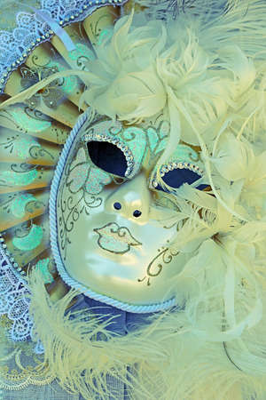 white mask: Venezian mask