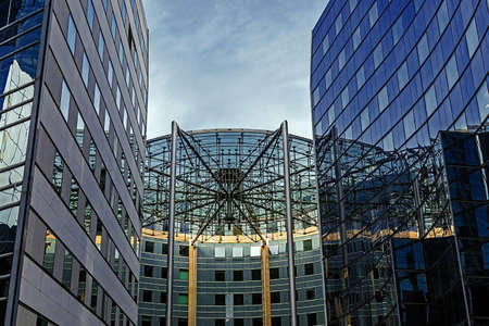 la defense: PARIS, FRANCE - OCTOBER 12, 2015: La Defense, commercial and business center of Paris, France. Editorial