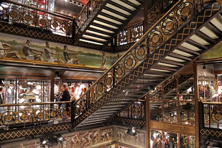 snob: PARIS, FRANCE OCTOBER 10, 2015: Inside a luxury store in Paris, located on Boulevard Champ Elysee.