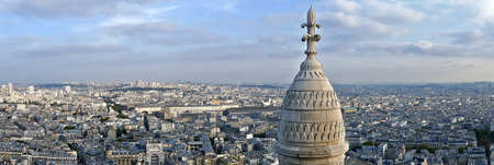 coeur: Panorama with rooftop and aerial view from Sacre Coeur Basilica, Paris, france.