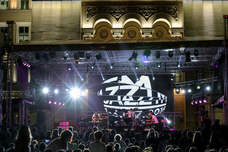 tm: TIMISOARA, ROMANIA - JULY 3, 2016: Scenes from concerts at the ,,Jazz TM, International Jazz Festival - Fourth Edition, from July 1 to 3, 2016. Organizer: Timisoara City Hall. Editorial
