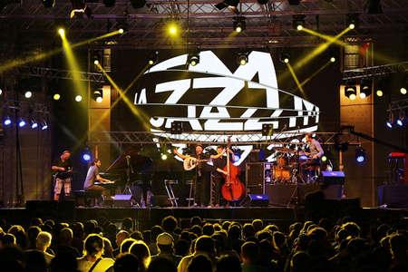 tm: TIMISOARA, ROMANIA - JULY 2, 2016: Scenes from concerts at the ,,Jazz TM, International Jazz Festival - Fourth Edition, from July 1 to 3, 2016. Organizer: Timisoara City Hall.