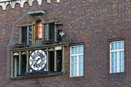 SZEGED, HUNGARY - MAY 22, 2016: Music Clock in Szeged on MARCH 11, 2011. Famous Medieval Musical Clock at Dom Square in Szeged, Hungary.