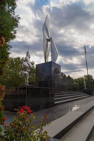 inox: RESITA, ROMANIA - SEPTEMBER 1, 2016: New monument in Resita, Romania. Editorial