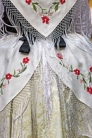 german ethnicity: Detail of traditional German folk costume worn by women of ethnic German from Banat area, Romania.