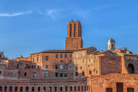 archeological: Trajans Market (Mercati di Traiano). One large complex of ruins in the city of Rome, Italy, located on the Via dei Fori Imperiali.