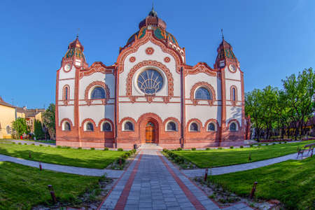 SUBOTICA, SERBIA - APRIL 28,2018: Hungarian Art Nouveau synagogue, the second largest synagogue in Europe, built in 1901-1902 according to the plans of architects Marcell Komor and Dezso Jakab.