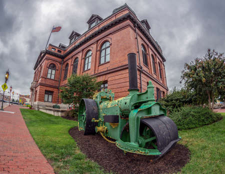 BALTIMORE, MARYLAND, USA - SEPTEMBER 8, 2018: Public Works Museum located at the Inner Harbor. The building housing this display is an operating sewage pumping station built in 1912. Editorial