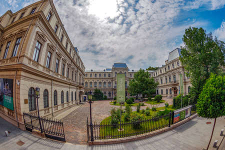 BUCHAREST, ROMANIA, JULY 17, 2018: Facca-Romanit Palace, known as the Museum of Art Collections. Built from 1812 in a neoclassic architectural style, it is located on Calea Victoriei nr. 111