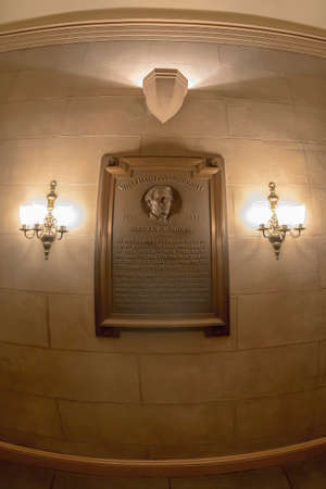 Washington, DC - September 4, 2018: Inside of capitol building. The memorial plate for Samuel F. B. Morse, an inventor of the telegraph. Stockfoto - 117823406