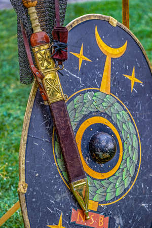 Type of Dacian ancient weapon used in battles.