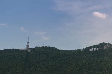 comunication: Brasov sign and comunication tower