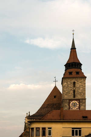 brasov: Black Church Tower in Brasov, Transylvania, Romania