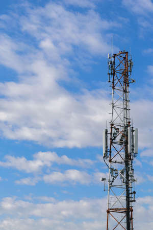 gsm: cellular repeter tower for 2g, 3g and 4g transmision - GSM Stock Photo