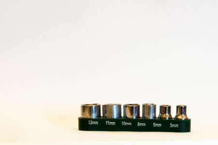 sockets: Set of six interchangeable sockets used for repairs
