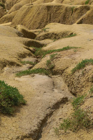 desertification of the land - eroded landscape