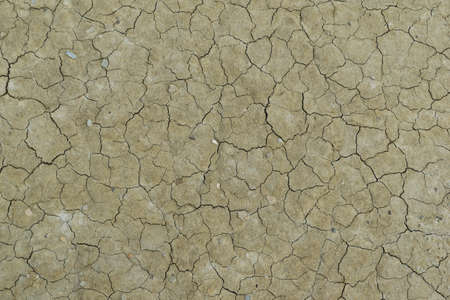 close-up detail of cracked soil mud pattern - desertification effect Reklamní fotografie