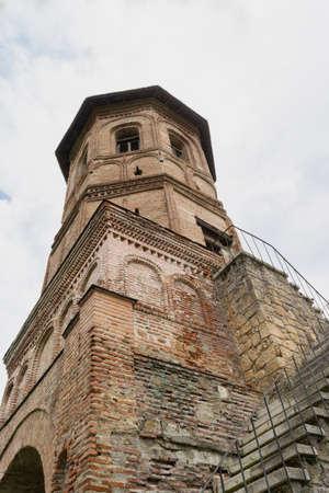 Brebu, Prahova, Romania - August 04, 2019: The Tower from Brebu Monastery situated in Brebu, Prahova. Redakční