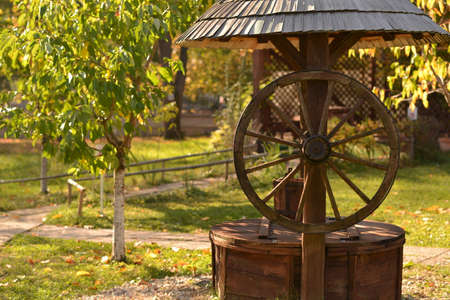 fount: An old well from the country side Stock Photo