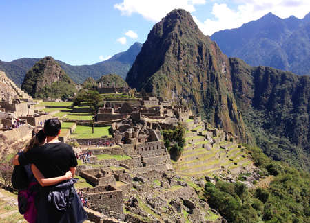 the lost city of the incas: Machu Picchu in Cusco in Peru, known to the lost city of the Incas
