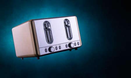 flying toaster smoky blue light spot Reklamní fotografie