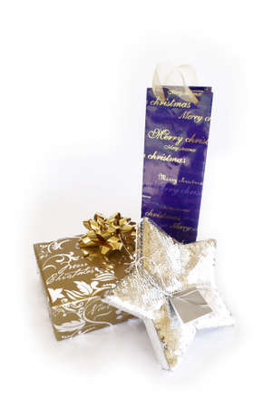 Gift wrapped Christmas presents photo