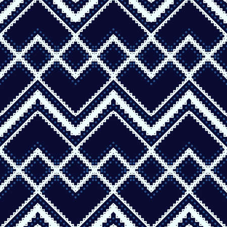 whiteblue: White-blue geometric pattern. Seamless ethnic background.