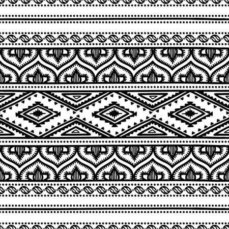 encaje: Modelo �tnico incons�til. Ilustraci�n vectorial blanco y negro.