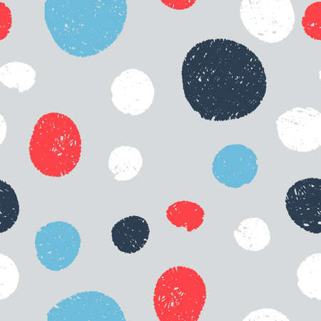 hatched: Seamless cute patterns - circles hatched lines by hand. Vector illustration.