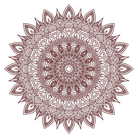 design visionary: Mandala. Drawing by hand. Doodle. Isolated vector illustration on white background.