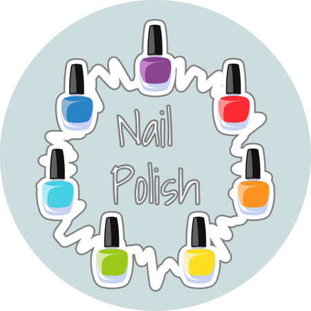red nail colour: Nail polish. Isolated illustration. Illustration