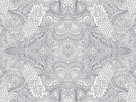 Seamless abstract background. Drawing by hand. Zentangle. Vector illustration. Sophisticated vintage pattern. Illustration