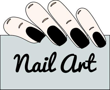 Nail art. manucure gothique. Vector illustration. L'espace vide pour votre texte.