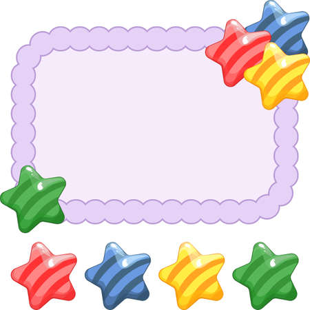 colorful frame: Festive frame with candy. Bright vector illustration. Empty space for your text. Illustration