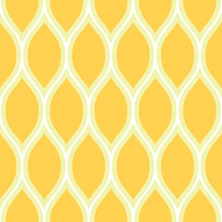 Simple seamless pattern. Summer wavy print. Yellow, white and gray colors.