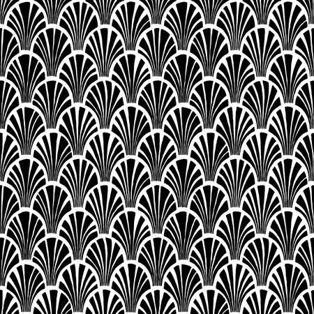 Seamless wavy black and white pattern. Print for textiles.