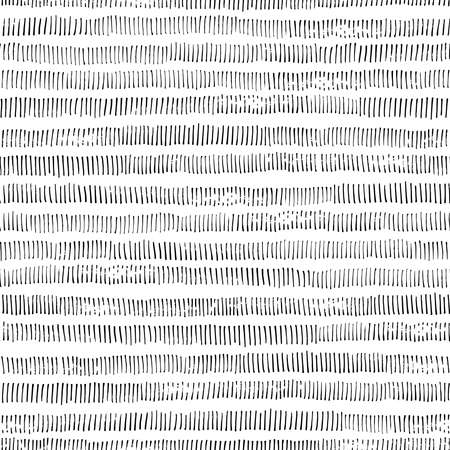Simple black and white striped pattern. Doodle print.