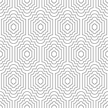 Seamless geometric pattern. Elegant black and white print for textiles. Print for textile, home decor, packaging, flyer, booklet, wallpaper, textile. 向量圖像