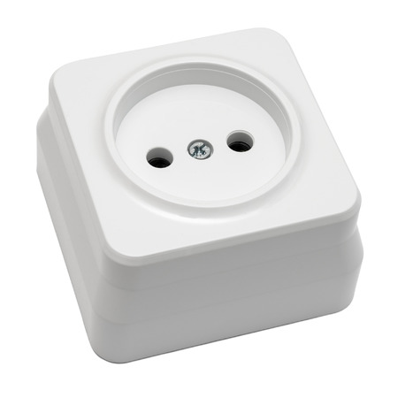 splitter: White outlet isolated on white background