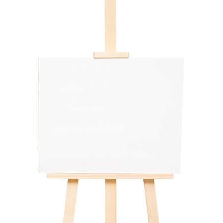 Easel empty for drawing isolated on white background