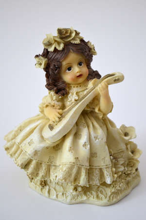 lute: doll playing the lute