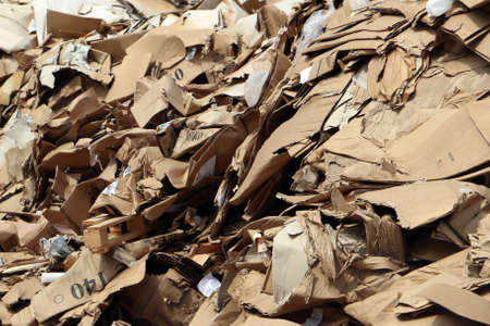 cluttered: Cluttered cardboard in landfill