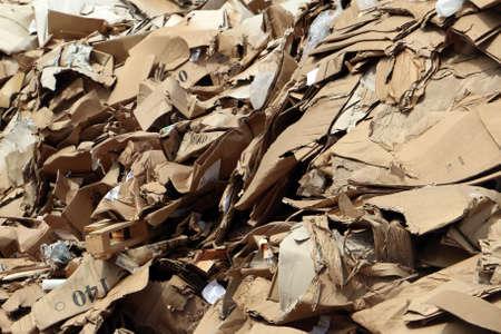 landfill: Cluttered cardboard in landfill