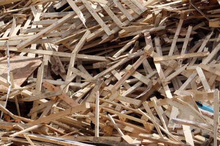 pallets: Broken pallets on landfill