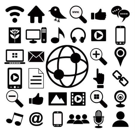 social network icon: social media icon set Illustration