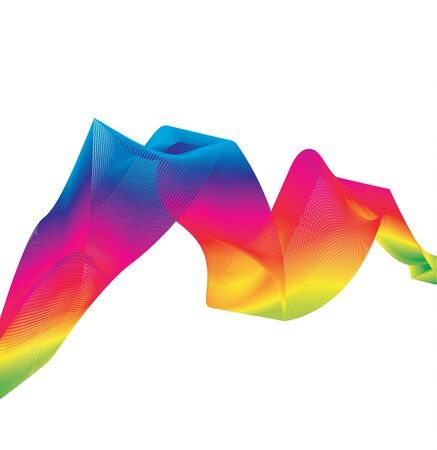 effect: Rainbow Ribbon Effect, abstract background
