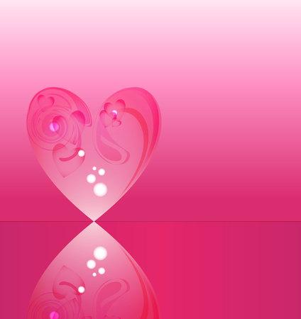 crystal heart: heart vector crystal, Vector Glass heart, valentines background