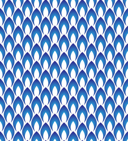 Seamless porcelain indigo blue and white simple art decor wave pattern vector, chinese blue pattern, ceramic Illustration