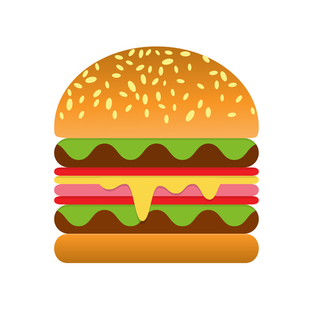 cartoon tomato: hamburger icon vector