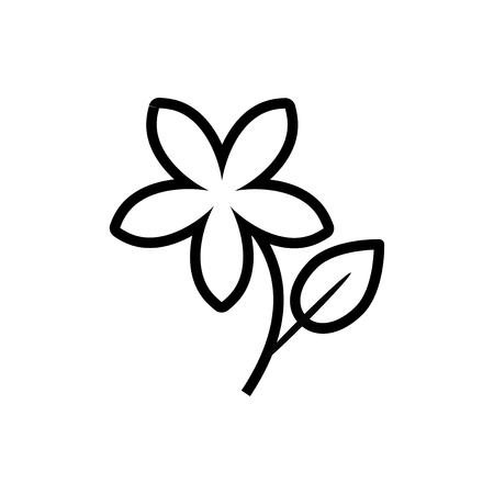ジャスミンの花のアイコン、ベクトル イラスト